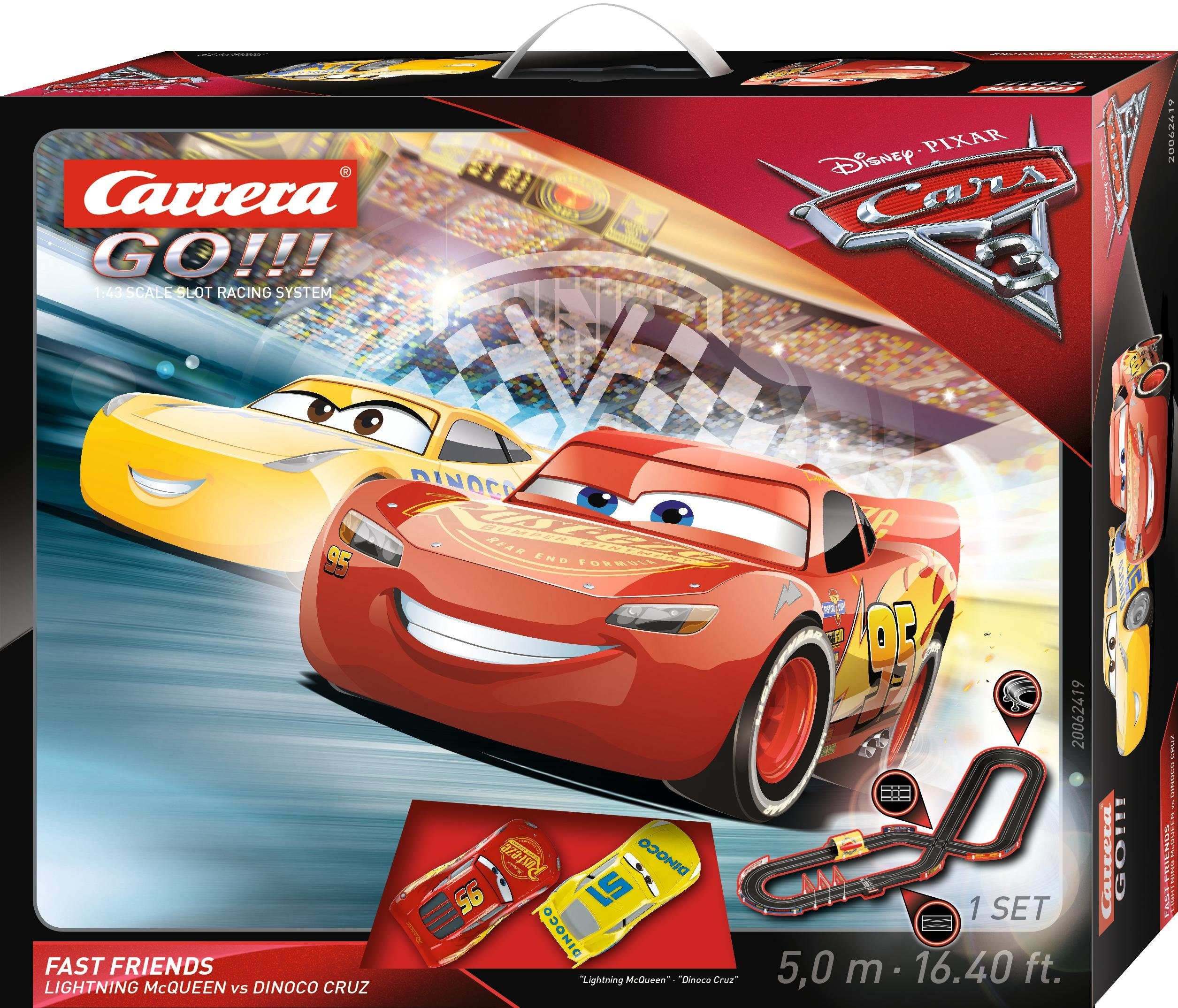 Carrera Autorennbahn, »Carrera® GO!!! Disney/Pixar Cars 3 Fast Friends«