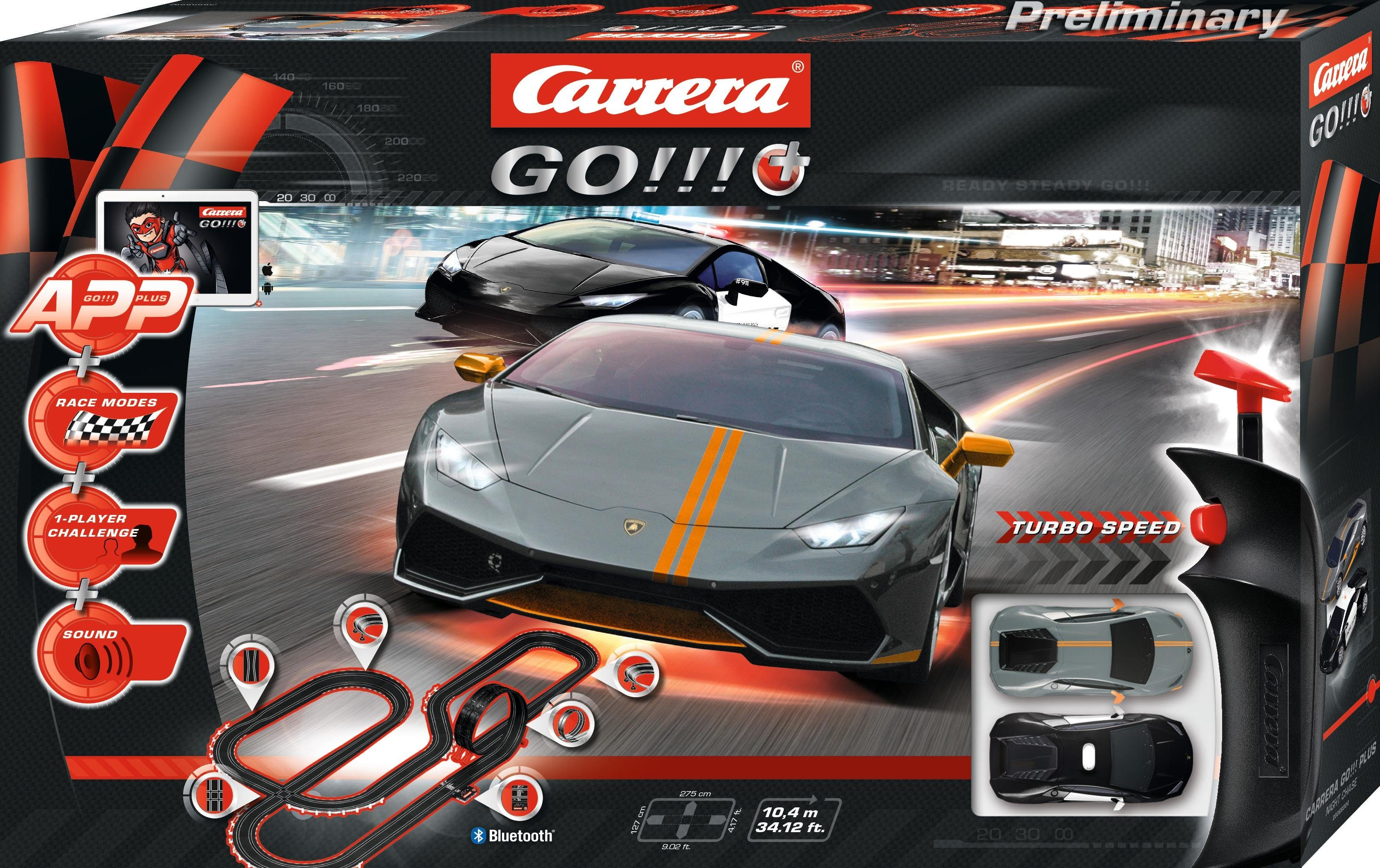 Carrera Autorennbahn, »Carrera GO!!! Plus Night Chase«