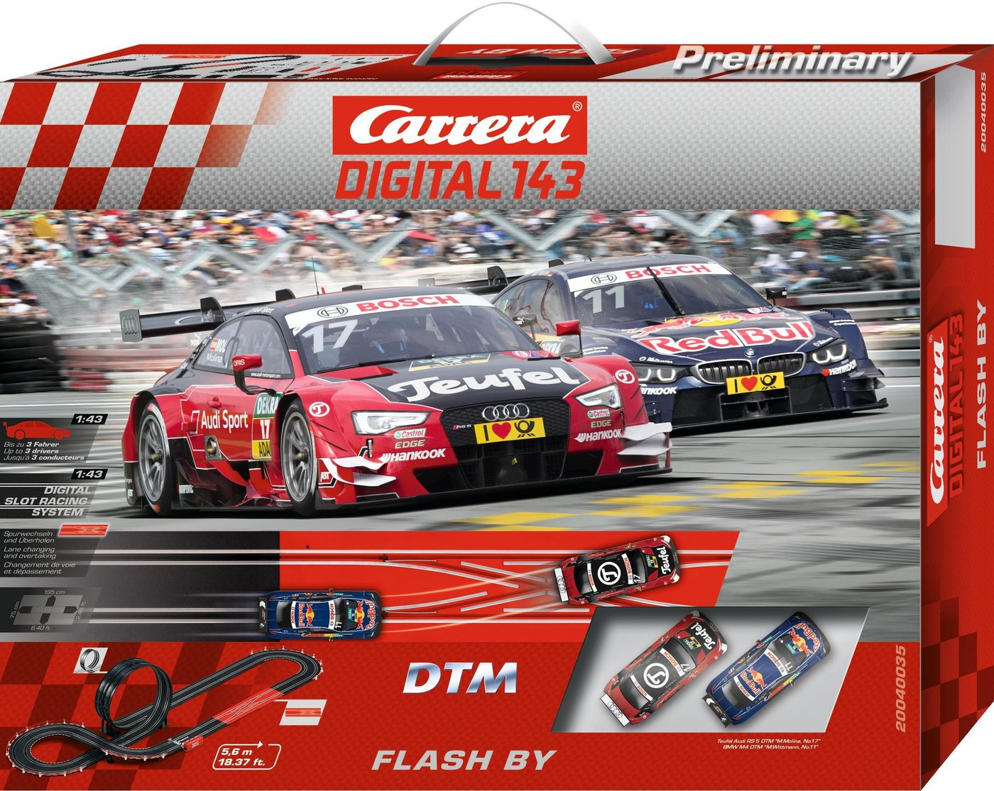 Carrera Autorennbahn, »Carrera® Digital 143 DTM Flash By«