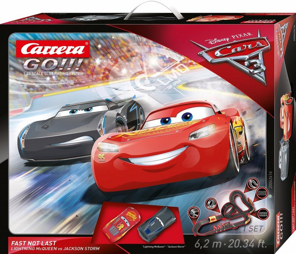 carrera autorennbahn carrera go disney pixar cars 3 fast not last online kaufen otto. Black Bedroom Furniture Sets. Home Design Ideas