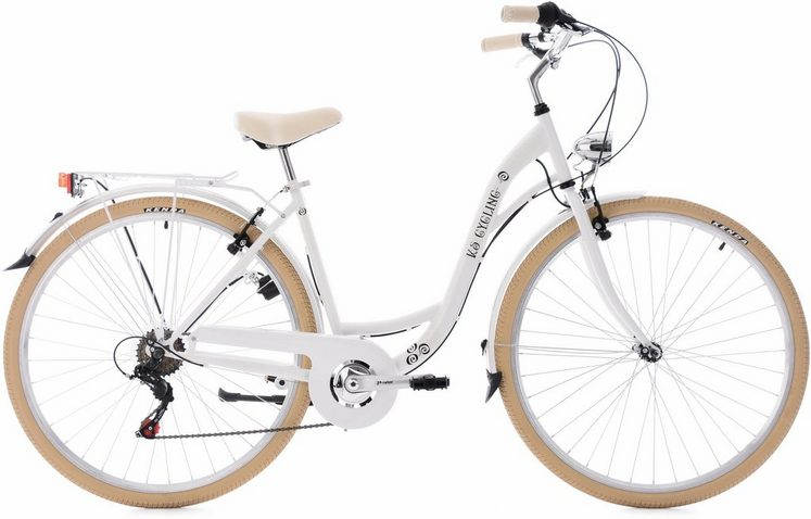 KS Cycling Cityrad »Casino«, 6 Gang Shimano Tourney RD-TZ50 Schaltwerk, Kettenschaltung
