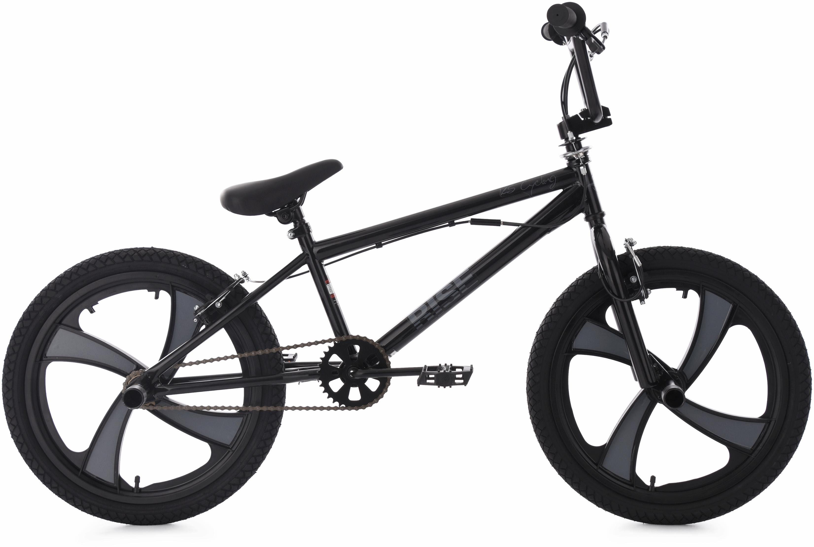 KS Cycling BMX Fahrrad, 20 Zoll, schwarz-grau, »Rise«