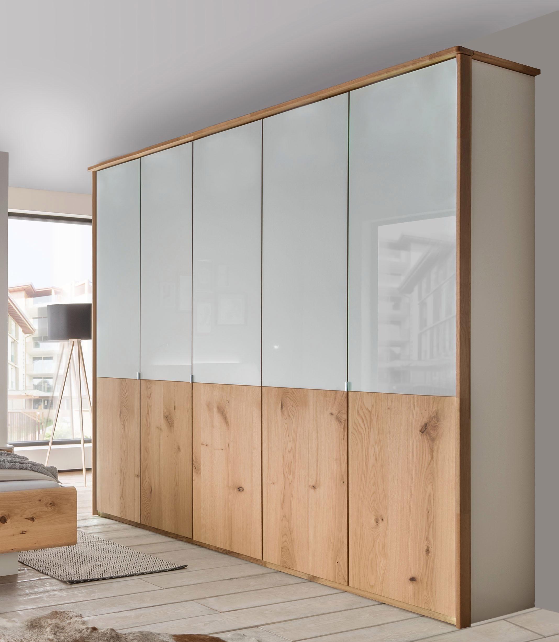 Wiemann Kleiderschrank, mit Echtholzfurnier und Glas-Elementen ...