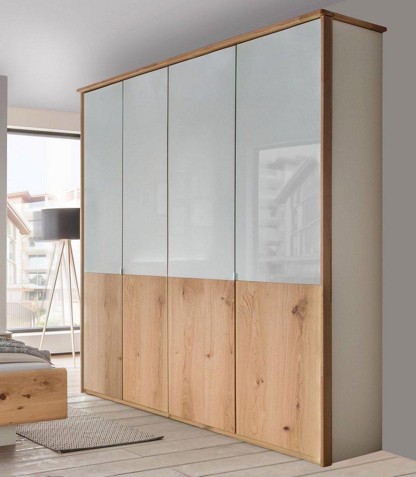 wiemann kleiderschrank mit echtholzfurnier und glas elementen online kaufen otto. Black Bedroom Furniture Sets. Home Design Ideas