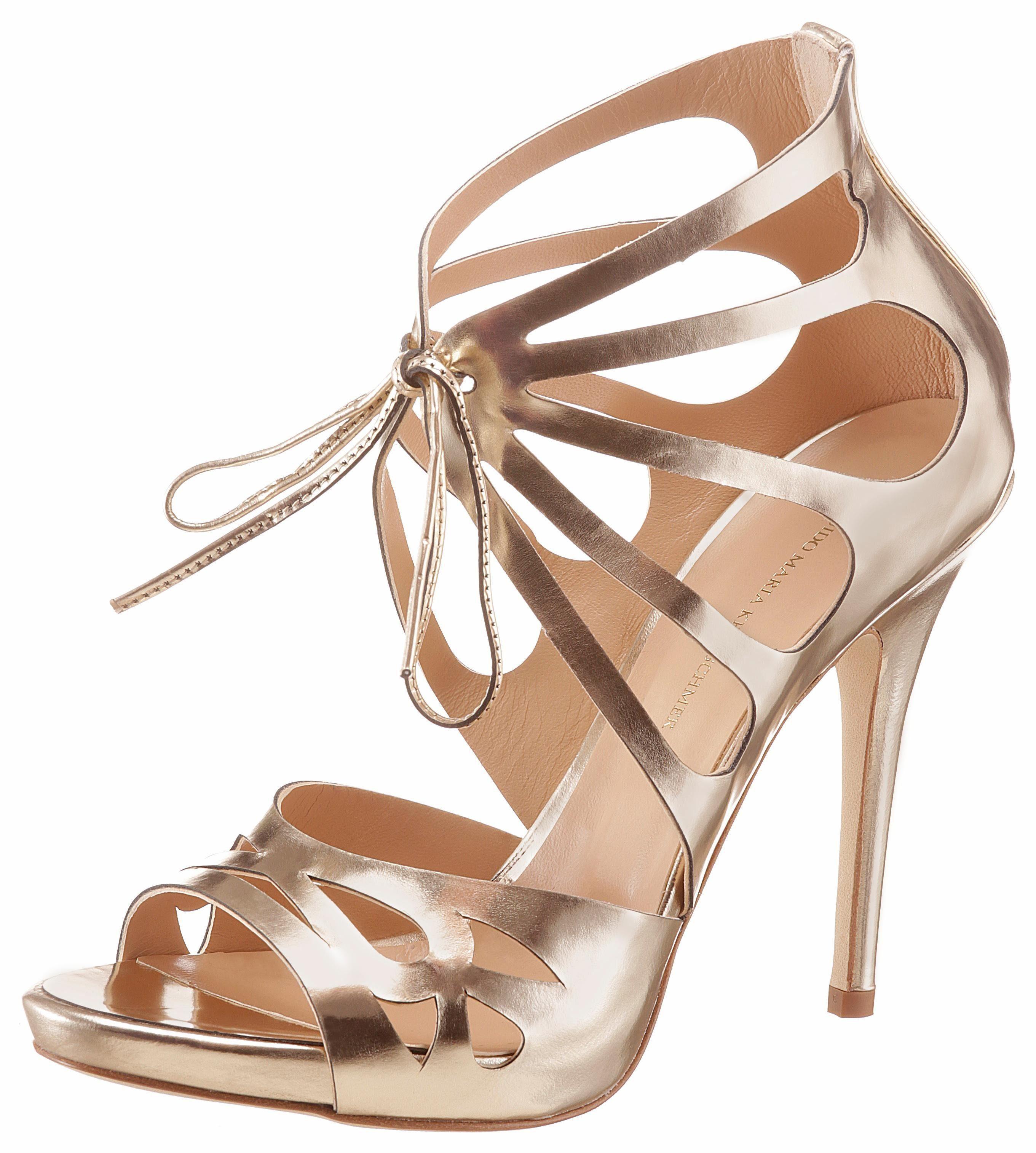 GUIDO MARIA KRETSCHMER High-Heel-Sandalette, mit modischer Schnürung online kaufen  goldfarben