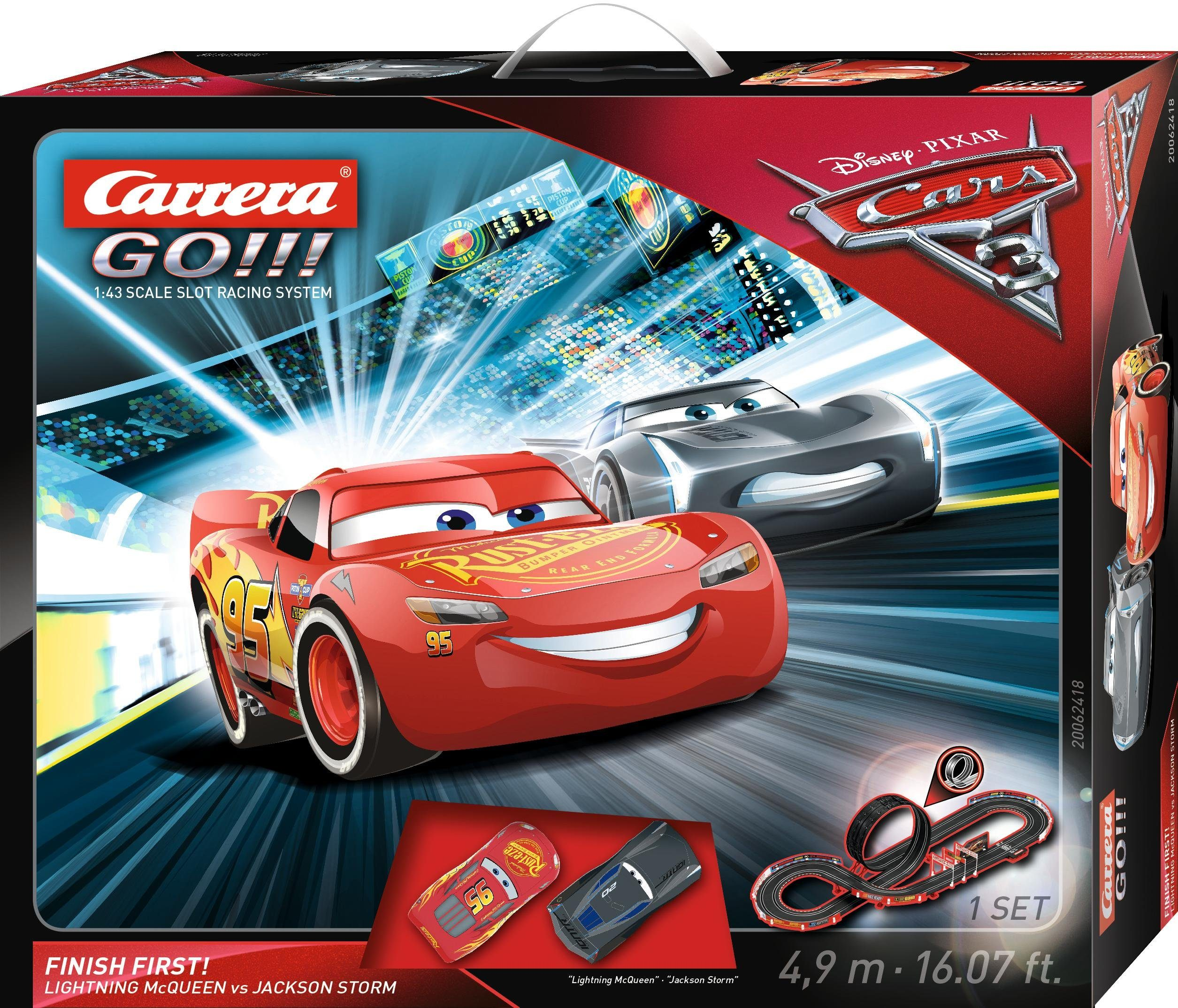 Carrera Autorennbahn, »Carrera® GO!!! Disney/Pixar Cars 3 Finish First!«