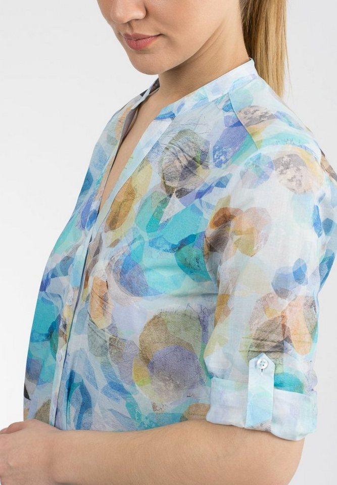 ETERNA Dreiviertelarm Bluse »COMFORT FIT bedruckt«