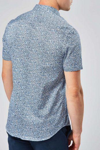 Next Kurzarmhemd mit Streublümchendruck