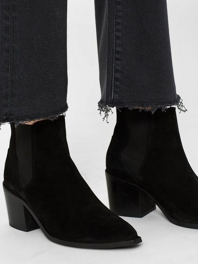 Selected Femme Cropped Bootcut- Bootcut-Jeans