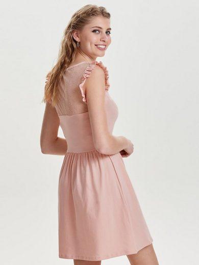 Only Rüschen- Kleid ohne Ärmel