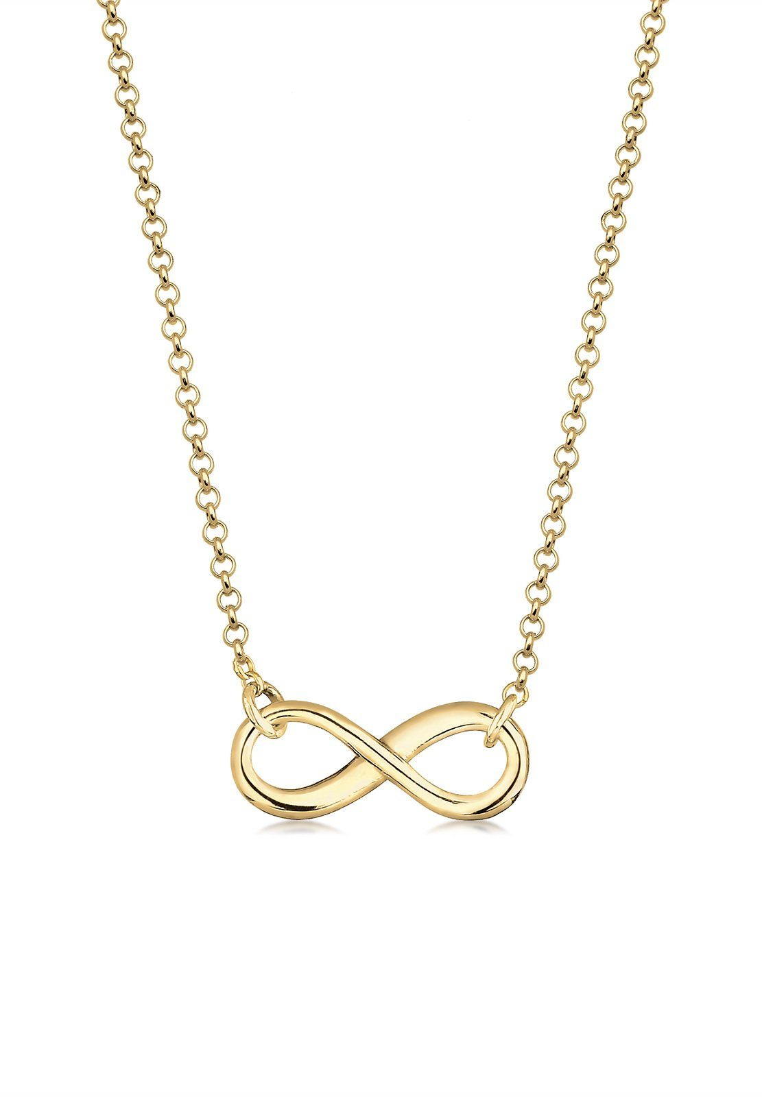 Elli Halskette »Infinity 375 Gelbgold«