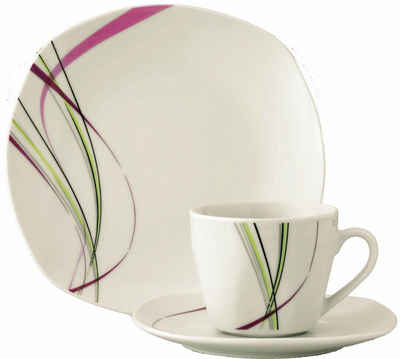 van Well Kaffeeservice »FASHION« (18-tlg), Porzellan, Spülmaschinengeeignet