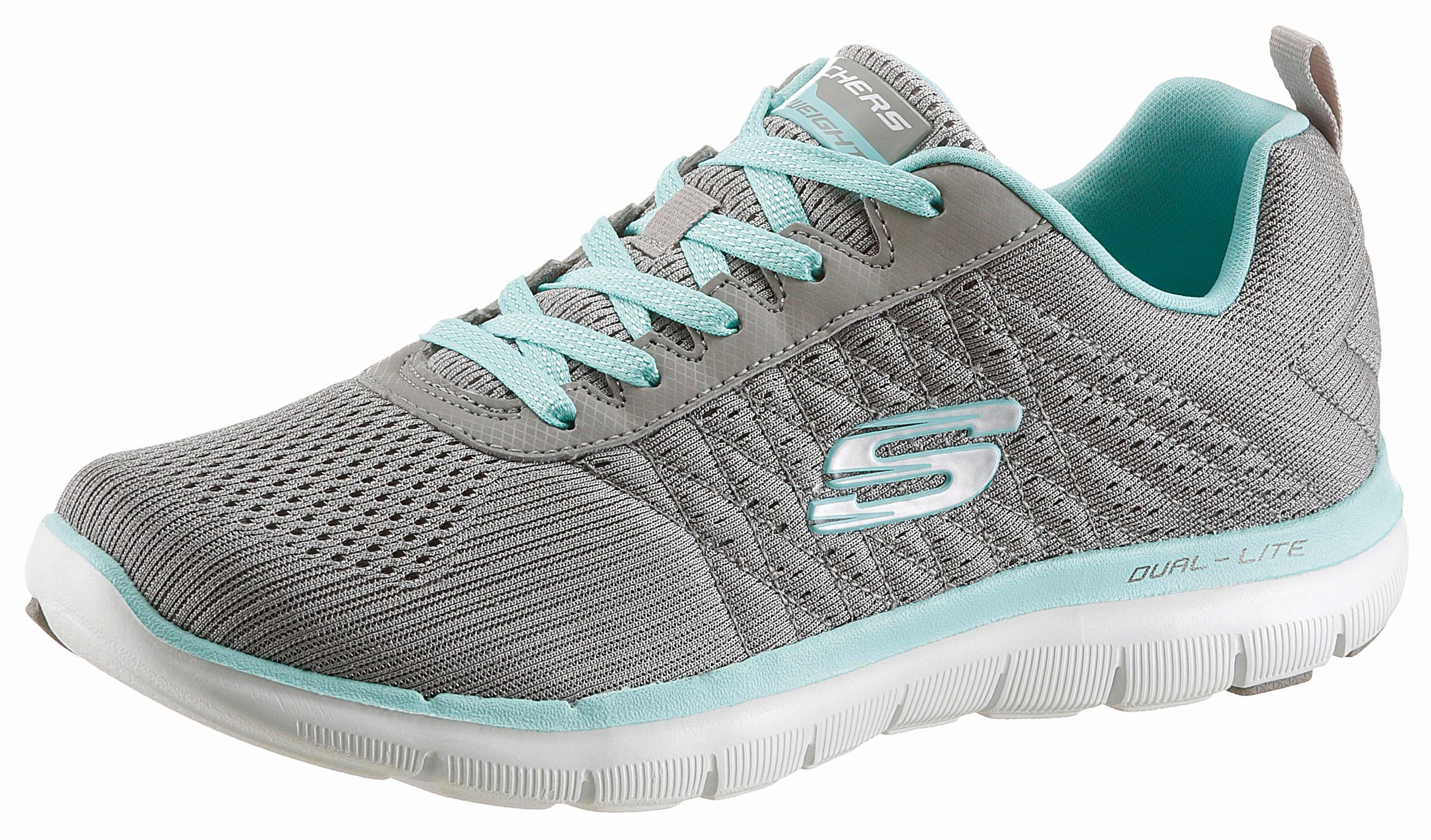 Skechers »Flex Appeal 2.0 Break Free« Sneaker, mit Dämpfung durch Air Cooled Memory Foam, schwarz, 35 35