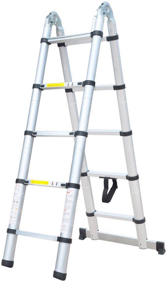 teleskopleiter alu klapp und anlegeleiter 2 x 1 6 meter total 3 2 m online kaufen otto. Black Bedroom Furniture Sets. Home Design Ideas