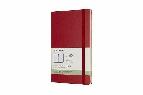 Gebundenes Buch »Moleskine 12 Monate Wochen Notizkalender 2018,...«
