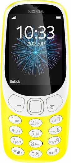 Nokia 3310 retro Dual SIM Handy (6,1 cm/2,4 Zoll, 16 GB Speicherplatz, 2 MP Kamera)