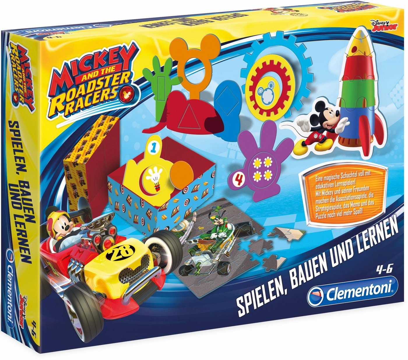 Vorschaubild von Clementoni Lernspiele, »Disney Junior Spielen, Basteln und Lernen Mickey Roadster«