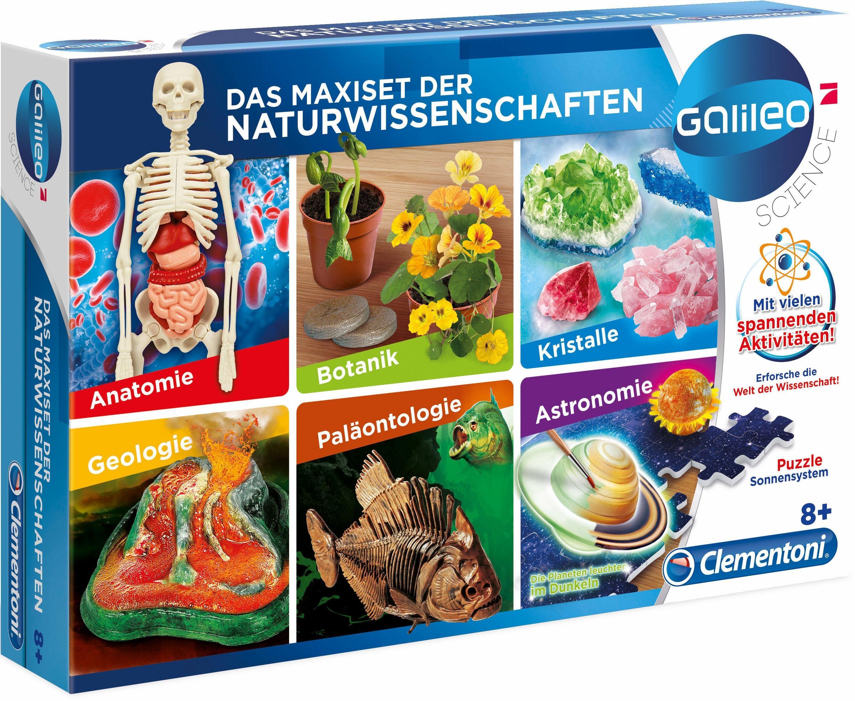 Clementoni Experimentierkasten, »Galileo Das Maxi Set der Naturwissenschaften«