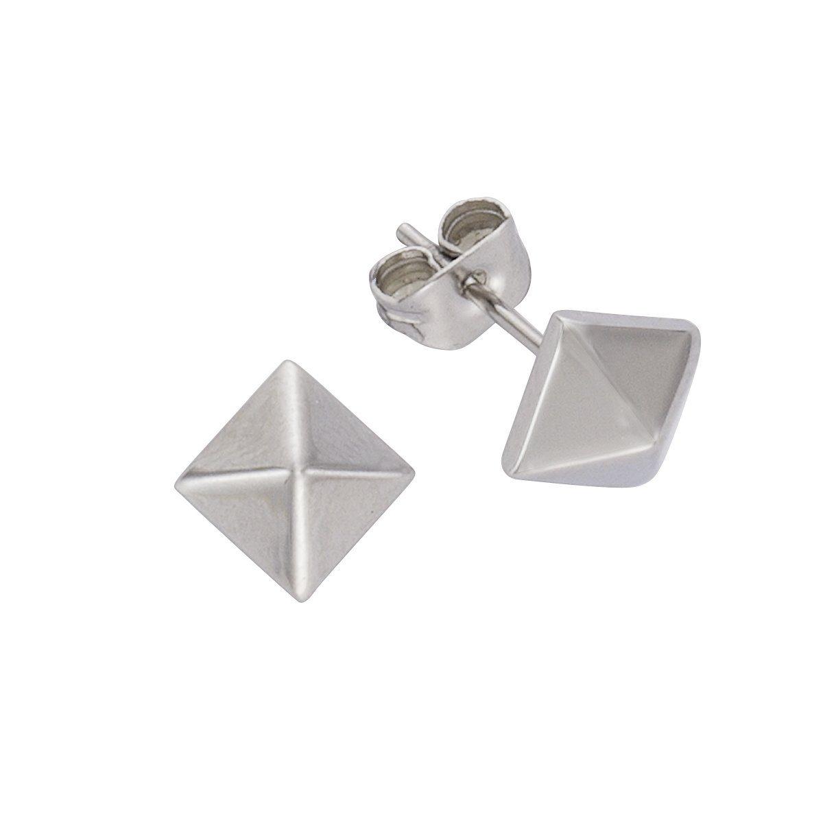 Zeeme Ohrstecker »Edelstahl Pyramiden Design«