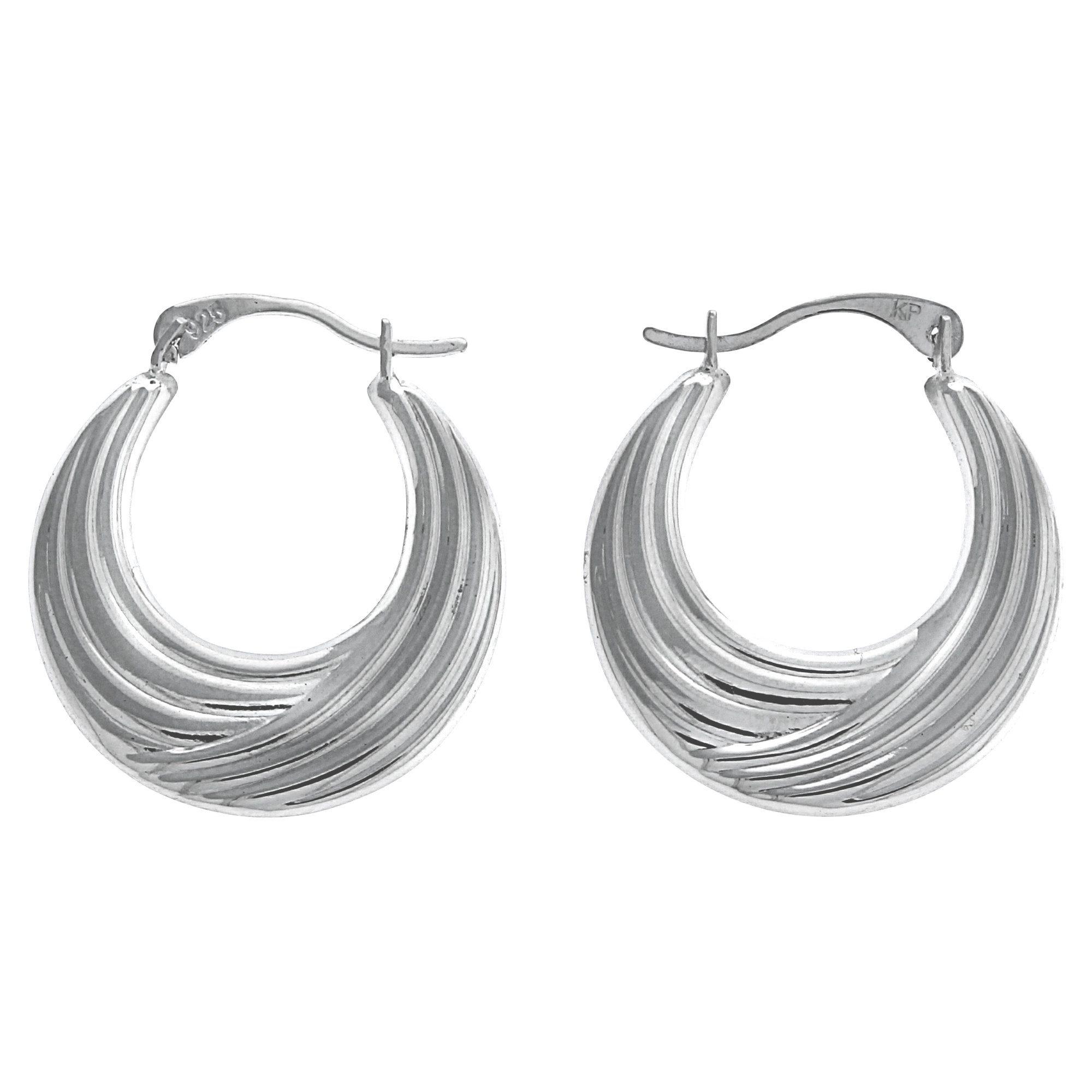 Firetti Creolen »925/- Sterling Silber rhodiniert«
