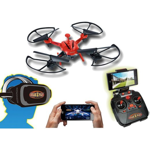 Gear2Play RC Quadrocopter VR Rover Drone mit VR Brille