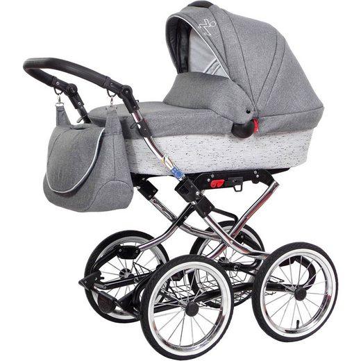 ZEKIWA Kombi Kinderwagen Luxus Complete, Granit