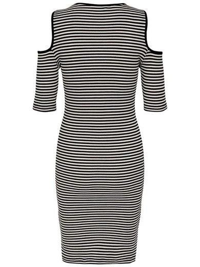 Only Cold-Shoulder Kleid mit kurzen Ärmeln