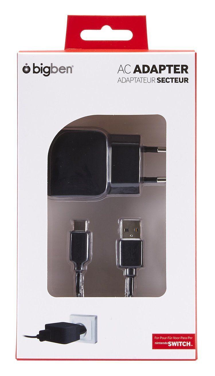 BIGBEN Netzteil AC-Adapter 2,1A inkl. Ladekabel schwarz »Nintendo Switch«