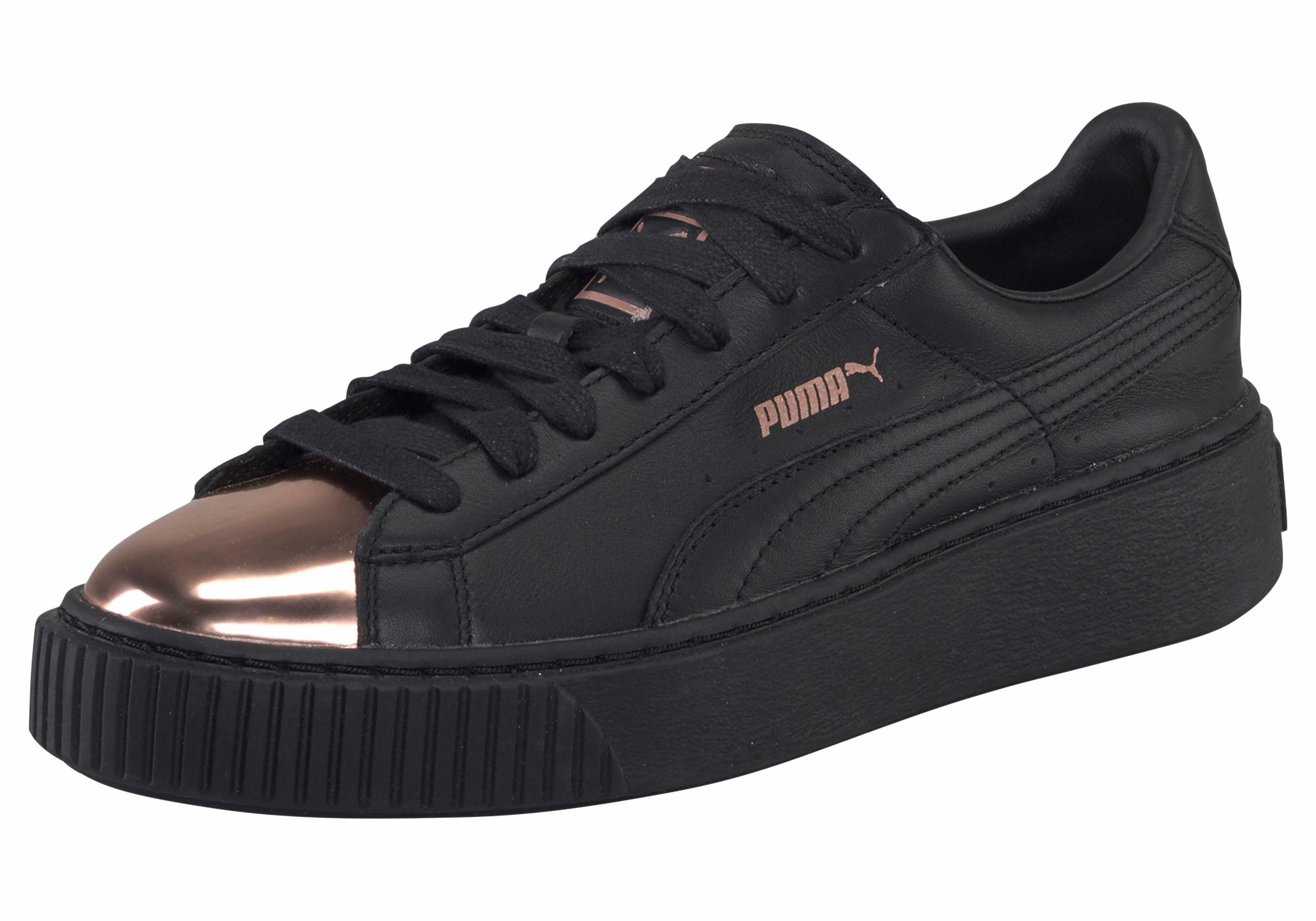 PUMA Basket Platform Metallic Sneaker kaufen  schwarz-kupfer