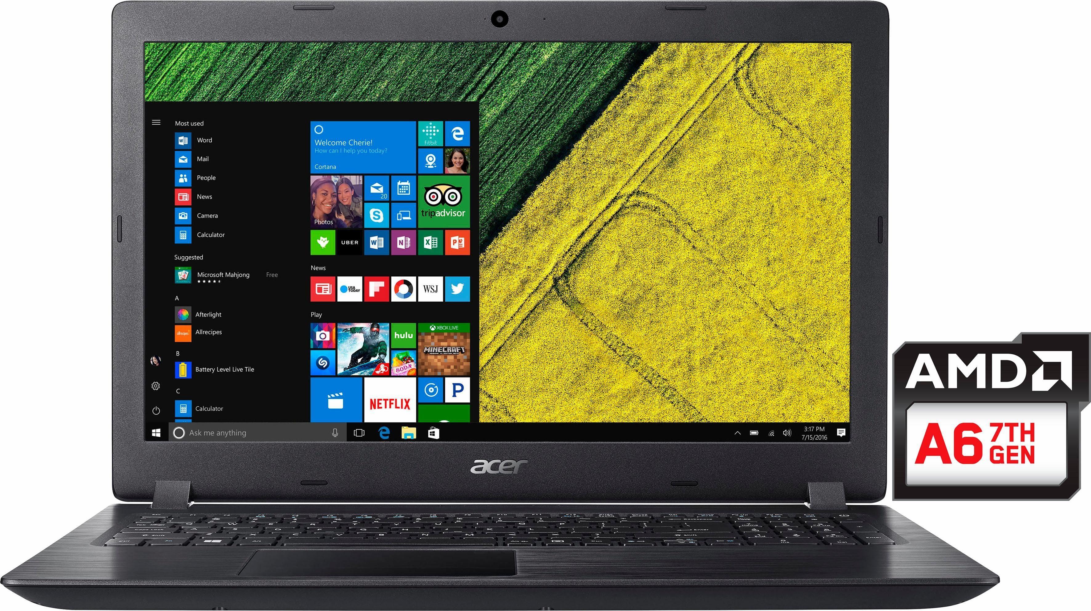 Acer Aspire A315-21-66N1 Notebook, AMD A6, 39,6 cm (15,6 Zoll), 1000 GB Speicher, 4096 MB DDR4-RAM