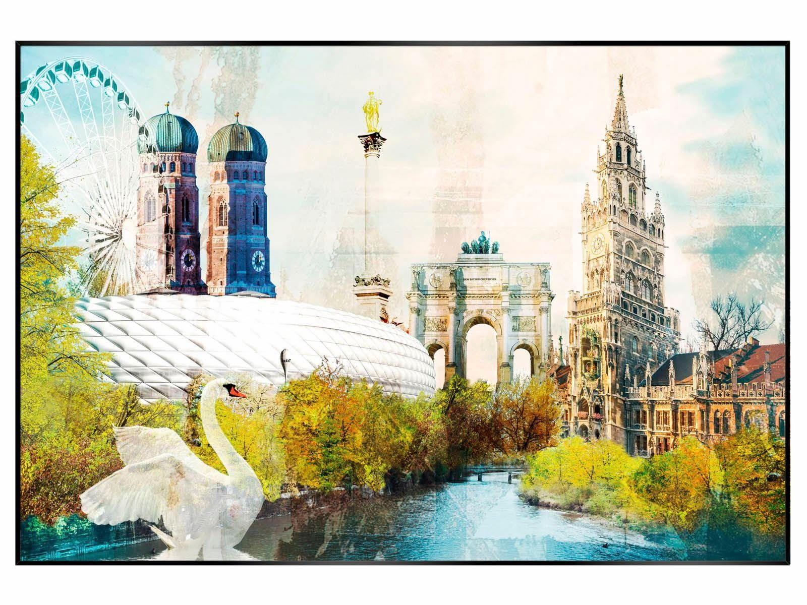 Bild, »München«, 90/60 cm
