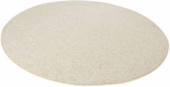 Teppich »Wolly 2«, BT Carpet, rund, Höhe 12 mm, Woll-Optik, Hoch-Tief-Effekt