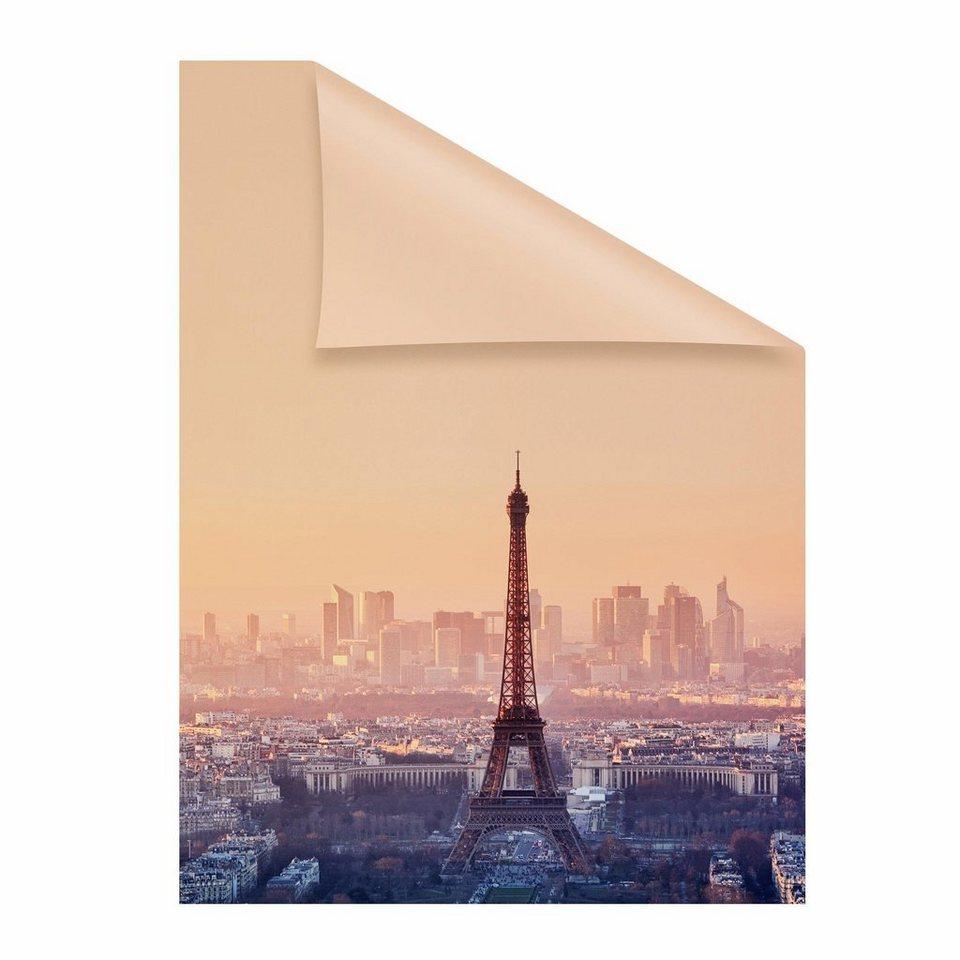 Fensterfolie eiffelturm lichtblick blickdicht strukturiert hochwertiges fensterbild online - Fensterfolie blickdicht ...