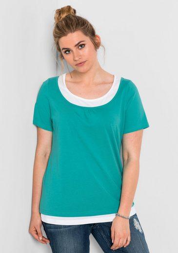 sheego Casual T-Shirt, in Lagenoptik