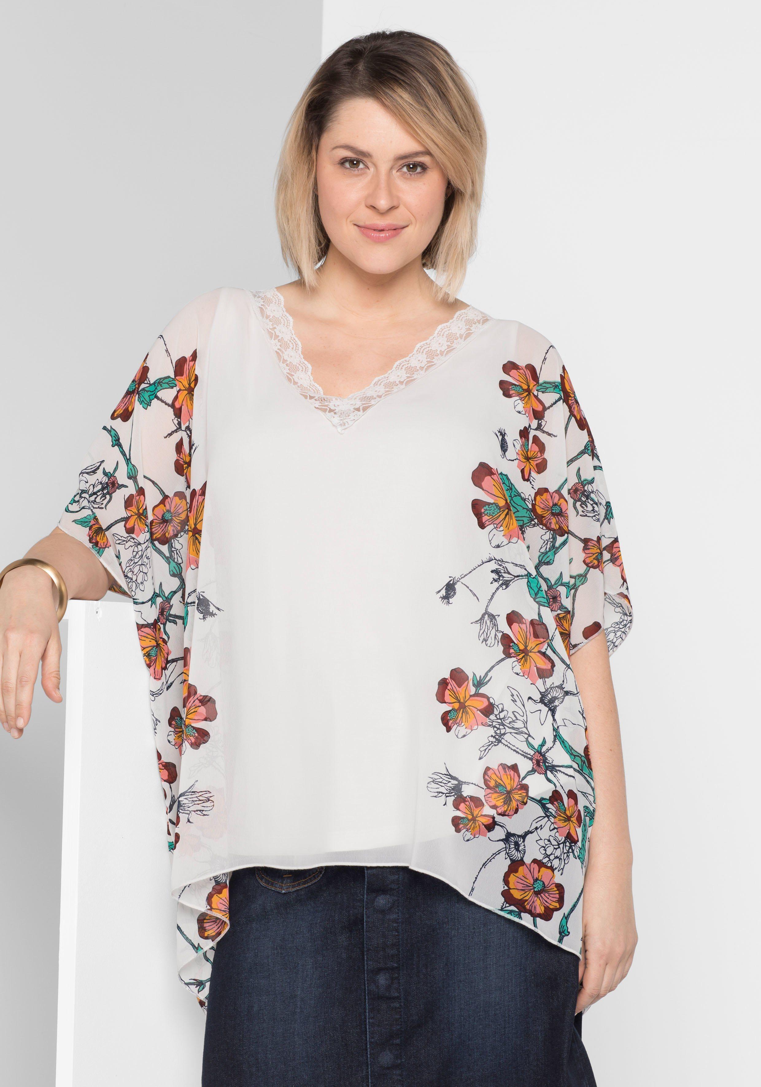 sheego Style Tunika, Floraler Alloverdruck | Bekleidung > Tuniken > Sonstige Tuniken | sheego Style
