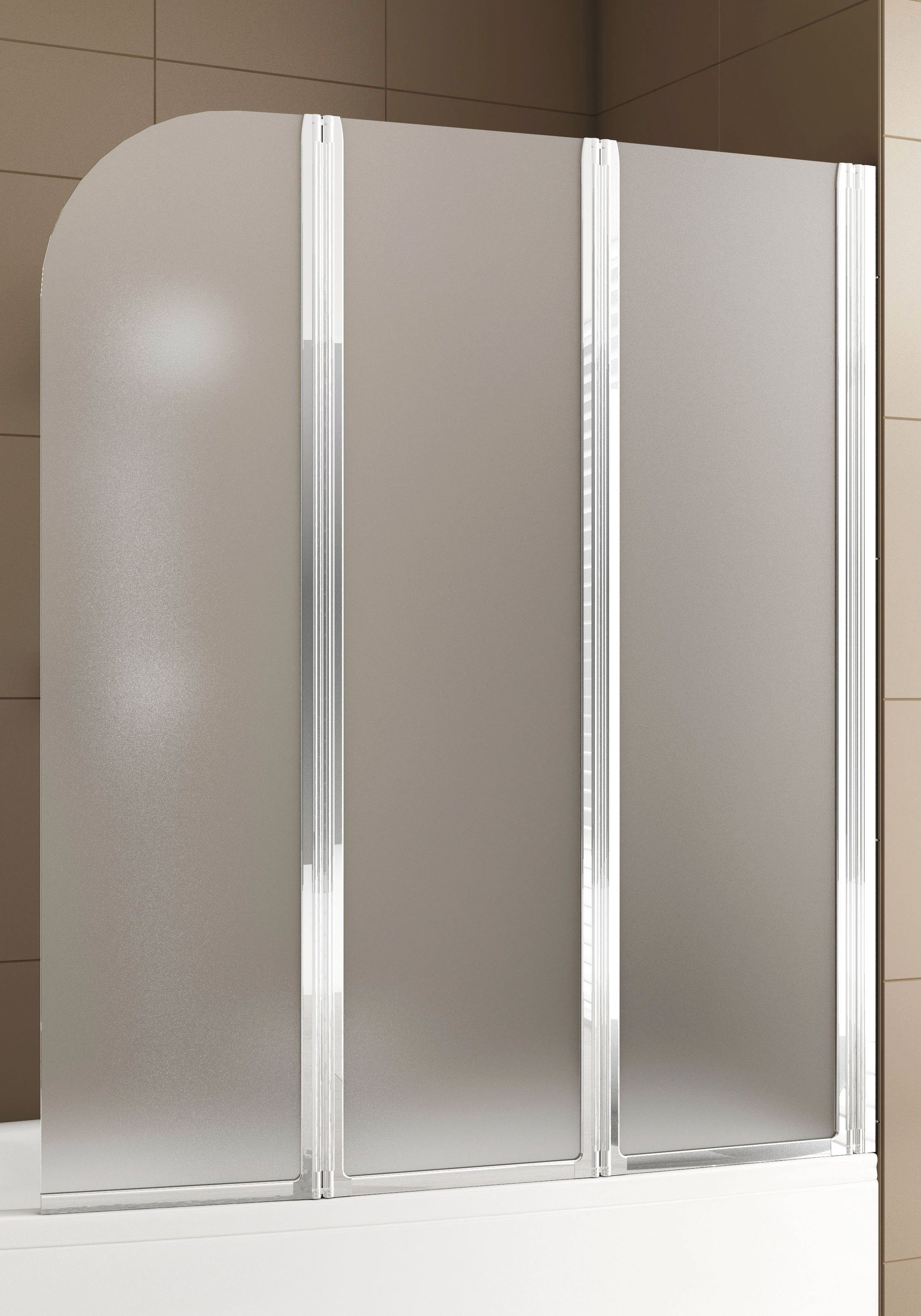 AQUAFORM Badewannenaufsatz »Mit Milchglas«, 121,5 x 140 cm