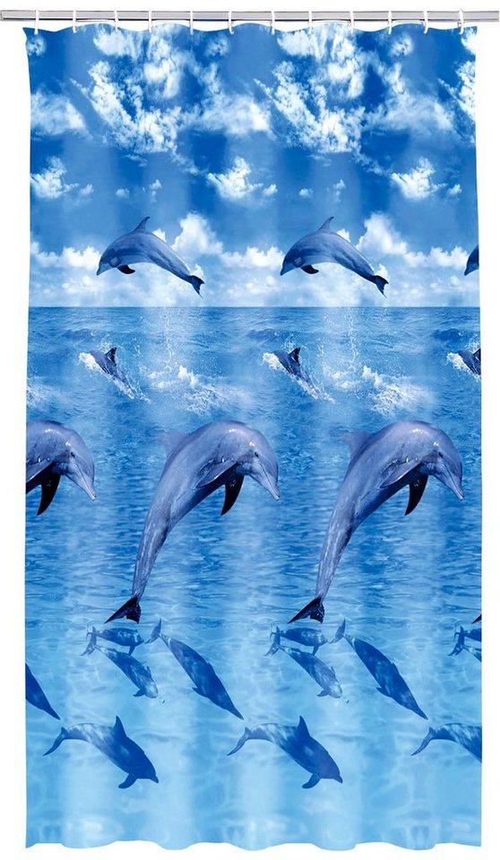 kleine wolke duschvorhang delfin breite 180 cm otto. Black Bedroom Furniture Sets. Home Design Ideas