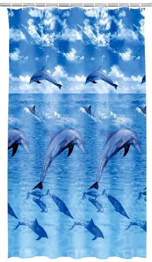 KLEINE WOLKE Duschvorhang »Delfin«, Breite 180 cm