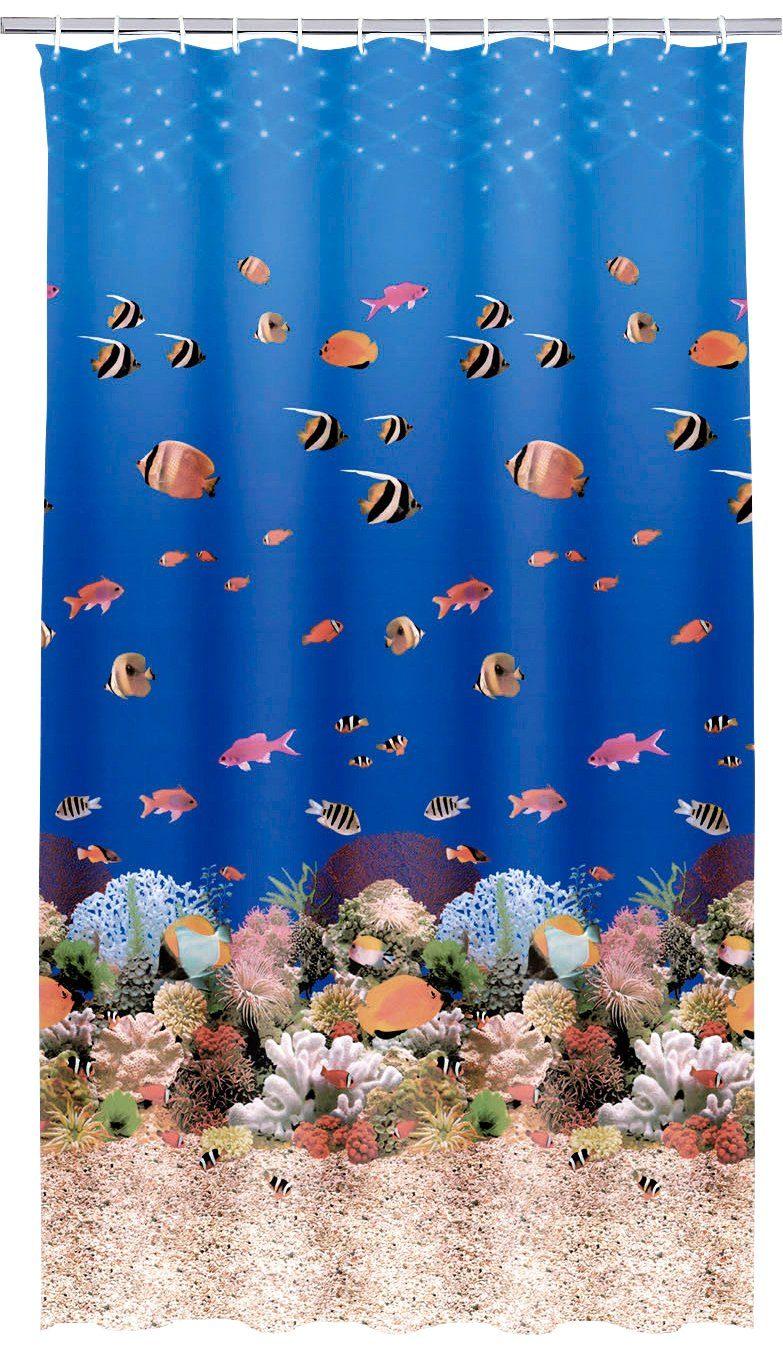 KLEINE WOLKE Duschvorhang »Aqua«, Breite 180 cm