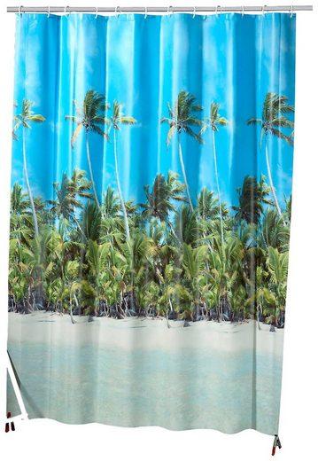KLEINE WOLKE Duschvorhang »Beach«, Breite 180 cm