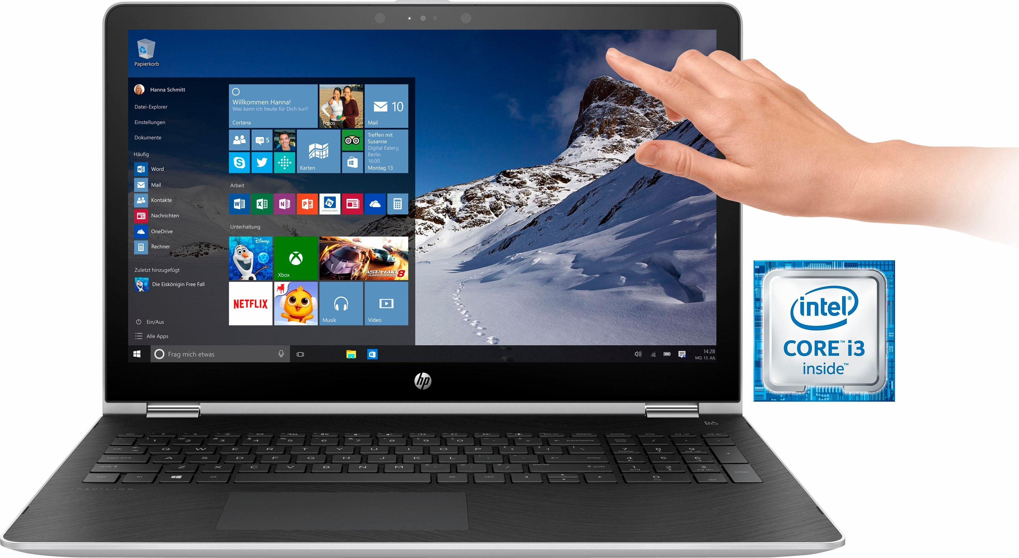 HP Pavilion 15 x360, 15-br013ng Notebook, Intel® Core™ i3, 39,6 cm (15,6 Zoll), 1000 GB Speicher