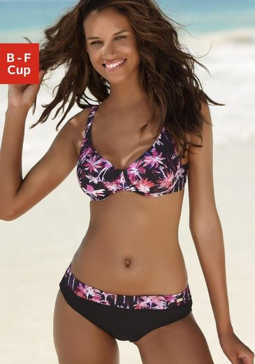 Venice Beach Bügel-Bikini mit Palmendruck