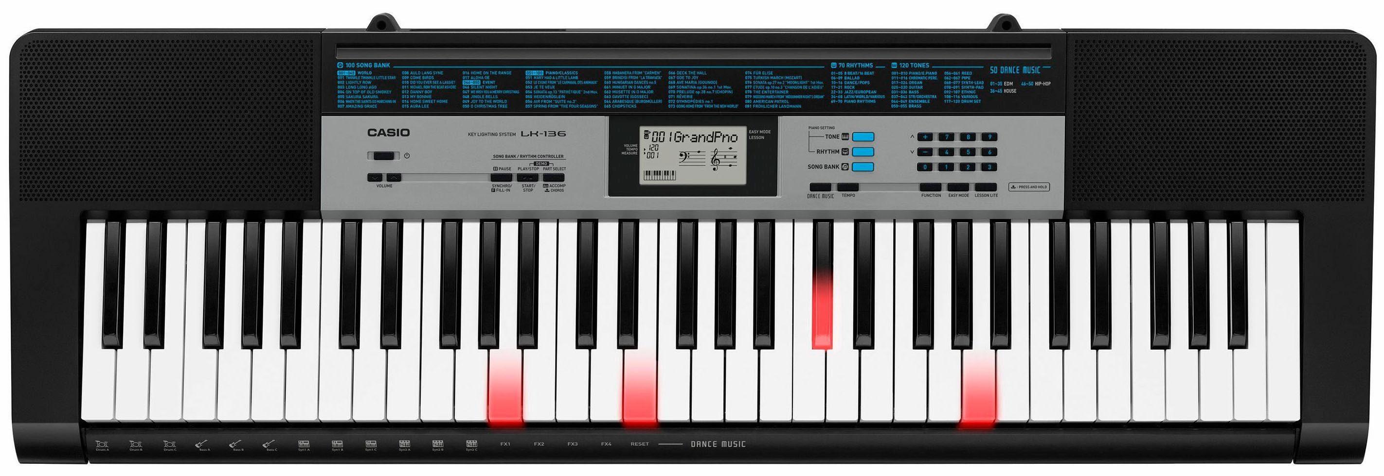 Casio® Keyboard mit Leuchttasten, »LK-136 AD«