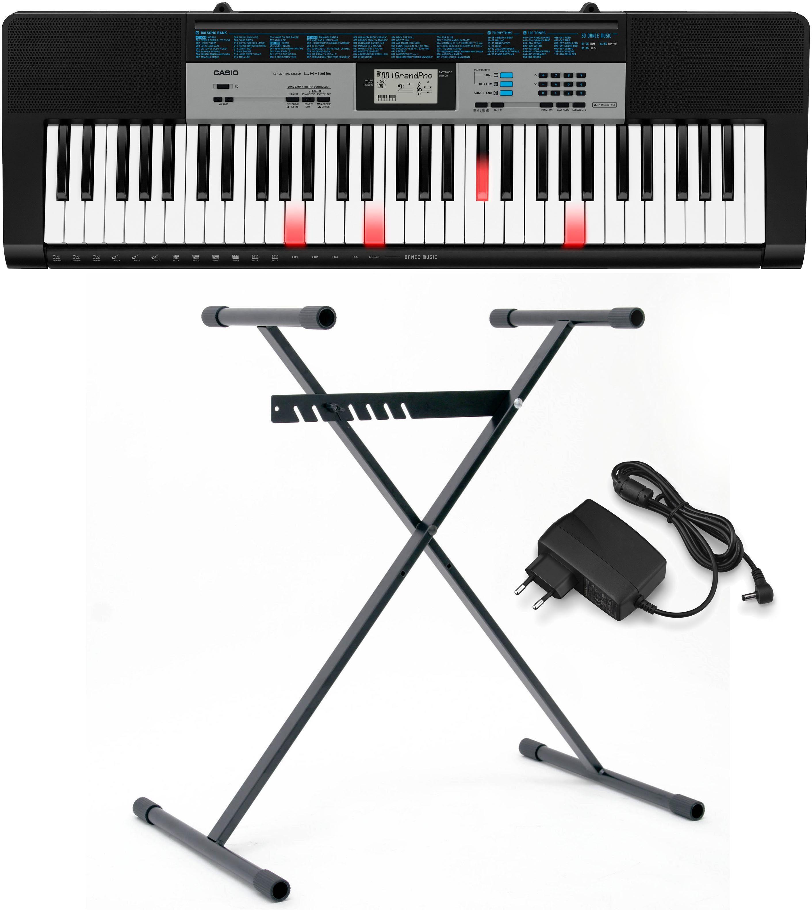 Casio® Keyboard Set mit Leuchttasten, »LK 136 Set«