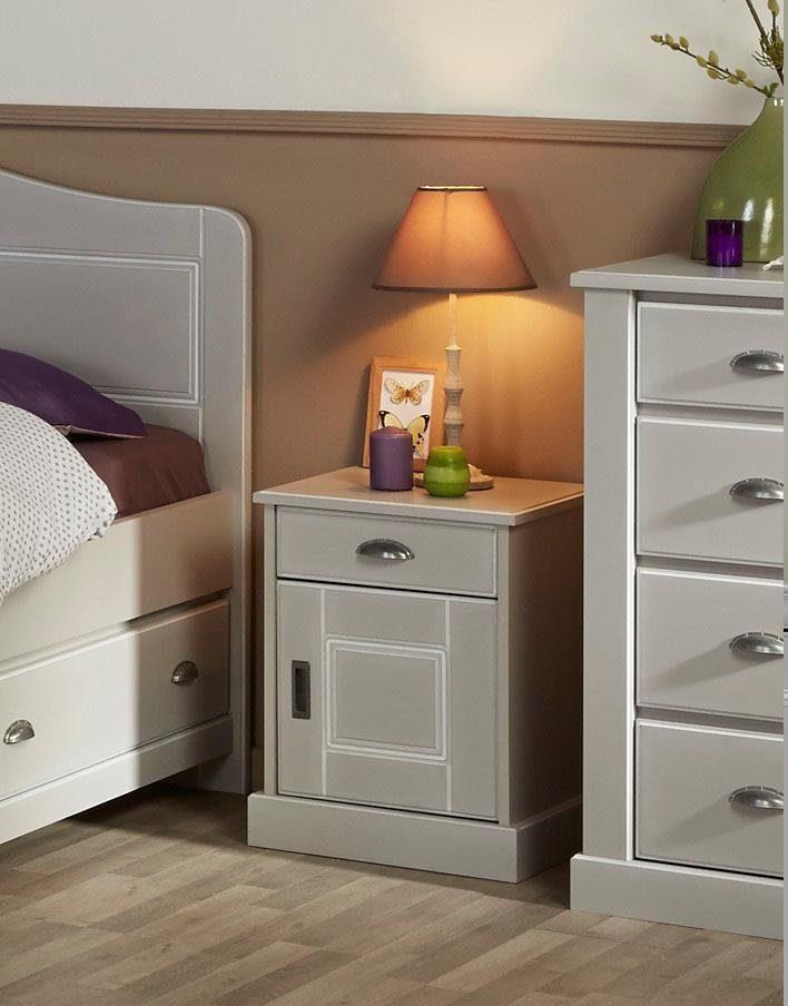 Home affaire Nachttisch »Kate«, mit einer Schublade und einer Tür, Breite 43 cm