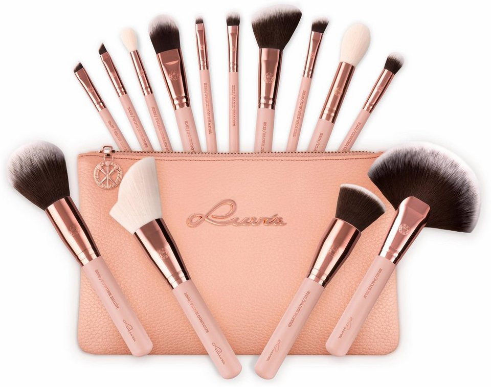 Luvia Cosmetics Essential Brushes Rose Golden Vintage Veganes