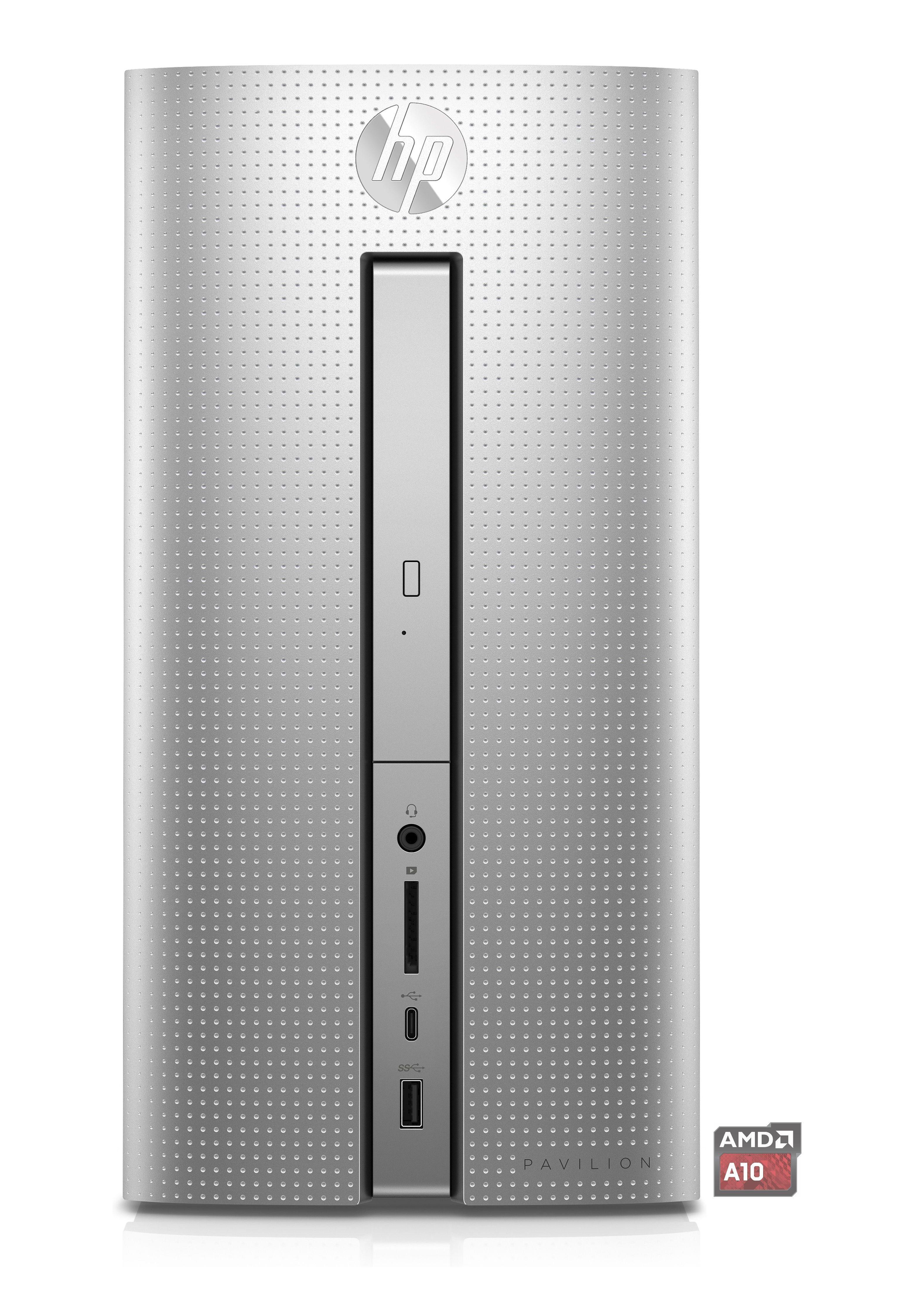HP Pavilion Desktop 570-p060ng »Quad Core A10-9700, R7, 128 GB + 1 TB HHD, 8 GB«