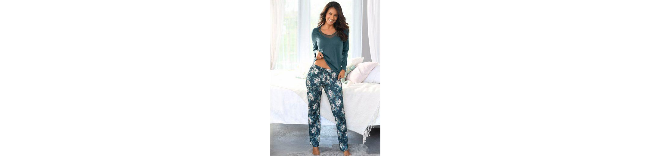 Vivance Dreams Pyjama mit langer Hose im floralen Print Verkauf Günstiger Preis Zu Verkaufen Niedriger Versandverkauf Online Wie Viel Günstigen Preis jjweBHJak