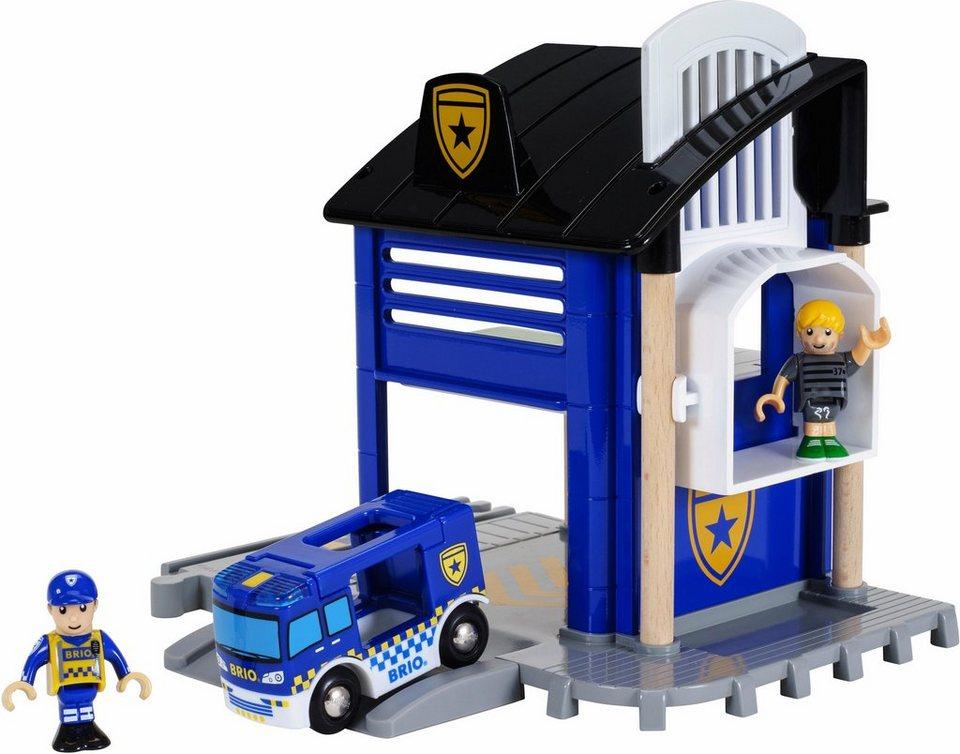 Brio Spiel Polizeistation Brio World Polizeistation Mit Einsatzfahrzeug Mit Licht Und Soundfunktion Online Kaufen Otto