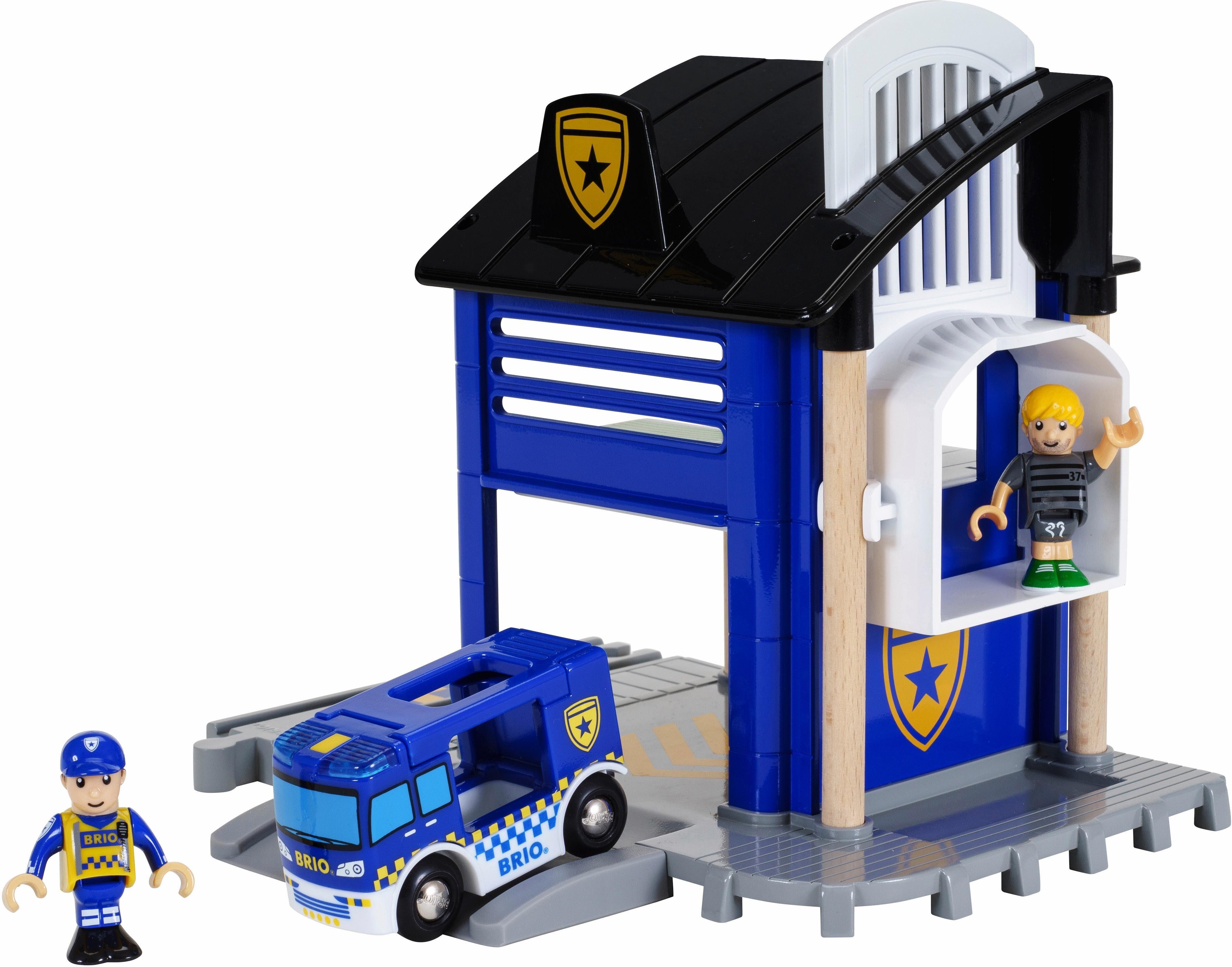 BRIO® Spielset mit Licht und Soundfunktion, »Brio WORLD Polizeistation mit Einsatzfahrzeug«